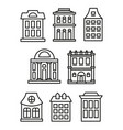 isolated black and white color low-rise municipal vector image vector image