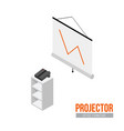 isometric projector with screen vector image vector image