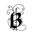 letter b with arrows vector image vector image