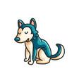 little cartoon husky dog vector image
