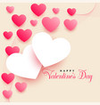 lovely valentines day background with beautiful vector image vector image