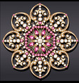 mandala brooch jewelry design element geometric vector image vector image