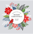 merry christmas greeting card banner and vector image vector image