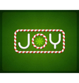 Merry Christmas Joy postcard vector image