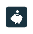 moneybox piggy icon Rounded squares button vector image vector image