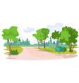 no people beautiful summer park landscape vector image