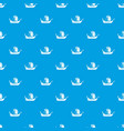 pirate ship pattern seamless blue vector image vector image