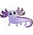purple smiling axolotl vector image vector image