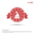 santa claus hat icon - red ribbon banner vector image