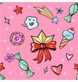 seamless pattern cute fun trendy diadem sweets vector image vector image