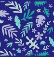 seamless pattern cute jungle animals vector image