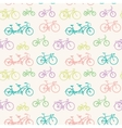 Seamless pattern with hand drawn bicycles