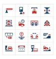 Set color icons of parking vector image