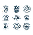 set of isolated fishing sport logo with fish vector image vector image