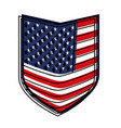 shield of flag united states of america colorful vector image vector image