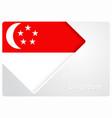 singapore flag design background vector image
