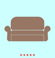 sofa set it is color icon vector image vector image