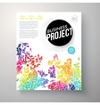 Stylish multicolored Business Project template vector image vector image