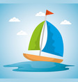 summer time scene with sailboat vector image vector image