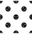 suspicious emotpattern seamless black vector image vector image