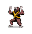 Villain Gorillaman Angry vector image vector image