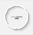 white abstract rought doted grunge banner vector image vector image
