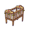 baby crib isolated on white vector image