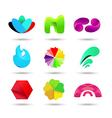 Abstract logo design set vector image