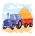 cartoon tractor with vector image