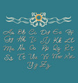 thread rope letters font vector image