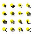 16 sphere icons vector image vector image