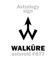 astrology asteroid walkure vector image vector image