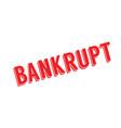 bankrupt rubber stamp vector image vector image