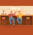 beer bar flat vector image vector image