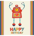 Birthday card with robot vector image