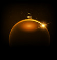 black shiny christmas background with bauble vector image vector image