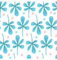 botanical flat hand drawn seamless pattern vector image