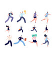 business people run active hurry person hurried vector image vector image
