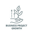 business project growth line icon vector image vector image