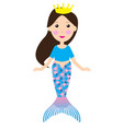cartoon mermaid vector image vector image