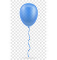 celebratory blue transparent balloon pumped vector image vector image