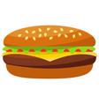colorful burger hamburger cheeseburger fast food vector image vector image