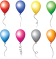 Colourful balloons set vector image vector image