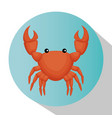 crab animal isolated icon vector image