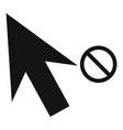 cursor stop icon simple black style vector image
