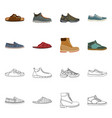 design of shoe and footwear symbol set of vector image