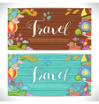 Doodle art with summer travel theme