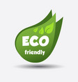 eco friendly green leaf flat vector image