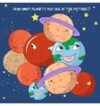 Educational game how many planets do you see vector image vector image