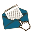 envelope and mail design vector image